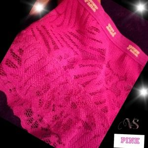 PINK Victoria Secret lace cheeky/ cheerster panty